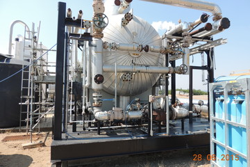 "96"" X 35ft 50 PSI Horizontal Treater"