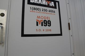 99 hp Brahama M99 Screw Compressor