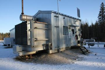200 hp Caterpillar G3306TA Frick TDSH233L Screw Compressor