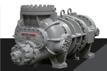 400 hp Mycom 400SUD-HE Screw Compressor