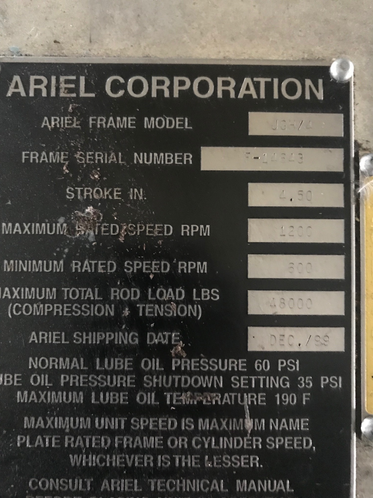 700 hp Waukesha 3521GL Ariel JGH-4 Reciprocating Compressor