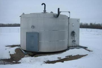 100 bbl Double Wall Coated Pop Tank