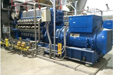 3440 kW Wartsila Series 220 Natural Gas Generator Package (5 available)