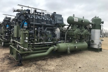 1680 hp Waukesha 7044GSI Ariel JGK-4-3 Reciprocating Compressor